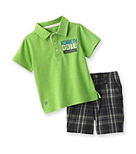 Kenneth Cole® Baby Boys' Lime Polo and Shorts Set