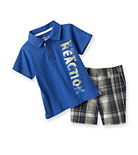 Kenneth Cole® Baby Boys' Royal Blue Polo and Shorts Set
