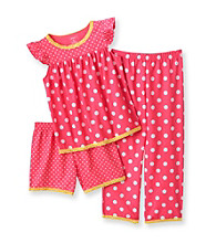 Carter's® Girls' 4-14 Pink 3-pc. Polka-Dot Pajama Set
