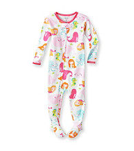 Carter's® Baby Girls' White Whale Print Footie Pajamas