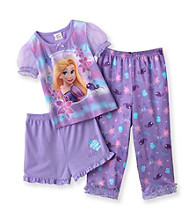 Disney Princess® Girls' 2T-4T Purple 3-pc. Rapunzel Pajama Set