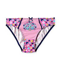 St. Eve® Intimates Girls' Pink Peacock and Hearts Bikini Panties