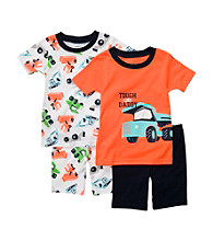 Carter's® Boys' 12M-4T Orange/White 4-pc. Dump Truck Pajama Set