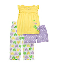 Carter's® Girls' 12M-4T Yellow/Purple 3-pc. Turtle Pajama Set