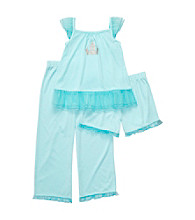 Carter's® Girls' 12M-4T Blue 3-pc. Castle Pajama Set