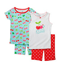 Carter's® Girls' 12M-7 Blue/Red 4-pc. Cherry Pajama Set