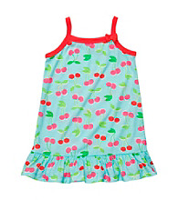 Carter's® Girls' 2T-14 Turquoise Cherry Print Sleep Gown