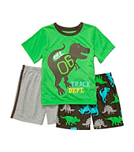 Carter's® Boys' 4-12 Green 3-pc. Monster Pajama Set