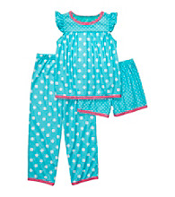 Carter's® Girls' 4-14 Blue 3-pc. Polka-Dot Pajama Set