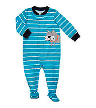 Carter's® Baby Boys' Turquoise Striped Dog Footie Pajamas
