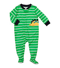 Carter's® Baby Boys' Green Striped Dino Footie Pajamas