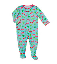 Carter's® Baby Girls' Blue/Red Cherry Print Footie Pajamas