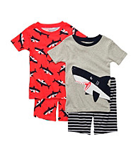 Carter's® Boys' 4-7 Grey/Red 4-pc. Shark Pajama Set