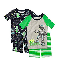 Carter's® Boys' 4-7 Green/Navy 4-pc. Robot Pajama Set
