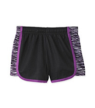 Grane® Girls' 7-16 Black/Purple Zebra Mesh Shorts