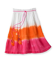 Amy Byer Girls' 7-16 Pink/Orange Dip Dye Skirt
