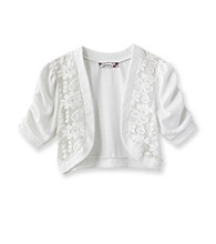 Speechless® Girls' 7-16 White Short Sleeve Lace Shrug