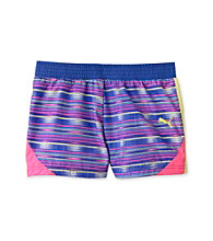 PUMA® Girls' 7-16 Multi Striped Microfiber Colorblock Shorts