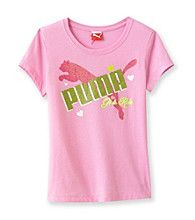 PUMA® Girls' 7-16 Pink Girls Rule Tee
