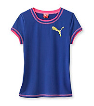 PUMA® Girls' 7-16 Blue Active Cat Tee
