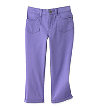 Jessica Simpson Girls' 7-16 Purple Nightingale Double Roll Crop