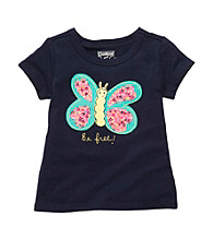 OshKosh B'Gosh® Girls' 2T-4T Navy Short Sleeve Butterfly Tee