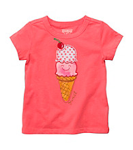 OshKosh B'Gosh® Girls' 2T-4T Coral Short Sleeve Ice Cream Tee