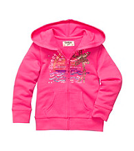 OshKosh B'Gosh® Girls' 2T-6X Hot Pink Hoodie