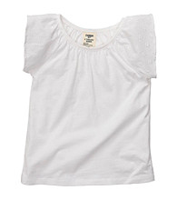 OshKosh B'Gosh® Girls' 2T-4T White Flutter Sleeve Tee
