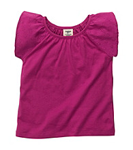 OshKosh B'Gosh® Girls' 2T-4T Purple Flutter Sleeve Tee