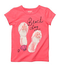 OshKosh B'Gosh® Girls' 4-6X Coral Beach Day Tee