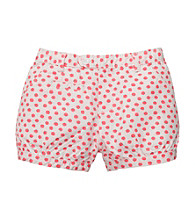 OshKosh B'Gosh® Girls' 4-6X Coral/Ivory Polka-Dot Shorts