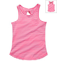 OshKosh B'Gosh® Girls' 4-6X Pink/White Striped Racerback Tee