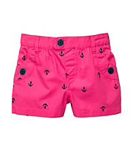 Carter's® Girls' 2T-6X Pink Anchor Print Shorts