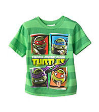 Nickelodeon® Boys' 4-20 Green Short Sleeve Striped TMNT Tee