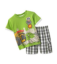 Tonka® Boys' 2T-4T Green Work Zone Shorts Set