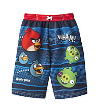 Angry Birds™ Boys' 4-7 Blue Bird Print Swim Trunk