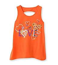 Miss Attitude Girls' 7-16 Love Goldfish Keyhole Back High-Low Graphic Tank