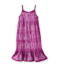 Little Miss Attitude Girls' 2T-6X Tie-Dye Flounce Tank Dress