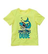 OshKosh B'Gosh® Boys' 2T-4T Yellow Jawsome Dude Shark Tee