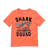 OshKosh B'Gosh® Boys' 4-7 Orange Short Sleeve Shark Squad Tee