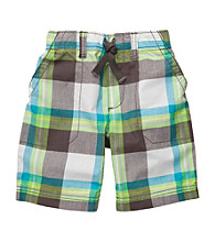 Carter's® Boys' 2T-7 Grey/Turquoise Plaid Pull-On Shorts