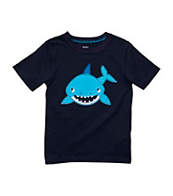 Carter's® Boys' 2T-4T Navy Short Sleeve Shark Tee