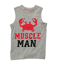 Carter's® Boys' 2T-7 Grey Crab Muscle Tee