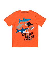Carter's® Boys' 2T-4T Orange Chomp Chomp Tee