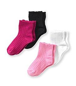 Little Miss Attitude Toddler Girls' Pink Multi 4-pk. Socks