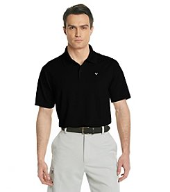 Callaway® Men's Black Short Sleeve Solid Polo