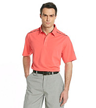 Callaway® Men's Paradise Red Short Sleeve Polo with Striped Shoulder