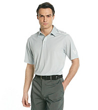 Callaway® Men's Grey Short Sleeve Polo with Striped Shoulder