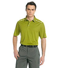 Callaway® Men's Green Short Sleeve Polo with Striped Shoulder